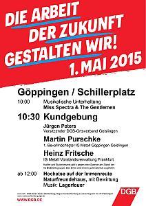 Aufruf des DGB zum 1. Mai 2015
