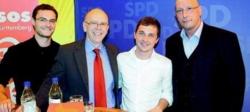 Sascha Binder (Zweiter von rechts) hat am Samstag den Bundestagswahlkampf eingeläutet.
