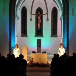 Das Verhältnis von Kirche und Staat bietet Gesprächsstoff. Das Bild zeigt eine Orgelnacht in St. Maria. FOTO NWZ-Archiv