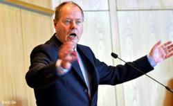 Finanzminister Peer Steinbrück (SPD) gestern in der Göppinger Stadthalle. FOTO: Giacinto Carlucci